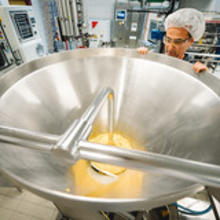 Small-scale production of vegan cheese