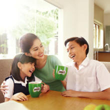 Family enjoying plant-based MILO